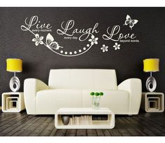 Live Laugh Love wall decal sticker mural vinyl wall art