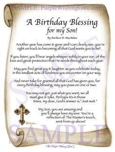 Birthday Prayer For Son, Son Birthday Quotes, Happy Birthday Quotes For Friends, Birthday Wishes For Myself, My Son Birthday, Birthday Cards, Prayer For Our Children, Prayer For My Son, Poem For My Son
