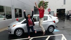 #JumpForJoy Congrats to Antonia on your new #Toyota #Yaris! Keep in touch with us and enjoy the great times in your new Yaris. Thank you from Q, Londale, Connor and everyone at Ardmore Toyota! #OhWhatAFeeling #BoldNewToyota