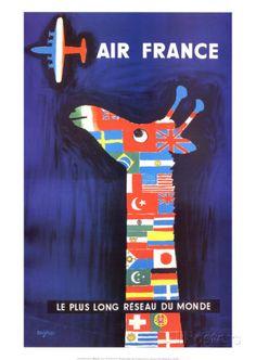 Air France Art by Raymond Savignac at AllPosters.com