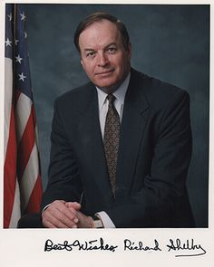 Alabama U.S. Senator Richard Shelby Autograph Signed Photo (2)