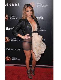 Adrienne Bailon--- Adrienne Bailon had a fashionable misstep when she rocked this see-through black dress with a draped overlay sans panties on a red carpet at the Escape to Total Rewards event. Adrienne Bailon, Pernas Sexy, Wild Girl, Girls In Panties, Glamour Magazine, Hollywood Glamour, Beautiful Celebrities, Sexy Legs, Hot Girls