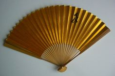 Hand fan bamboo and paper vintage Japanese by StyledinJapan, $7.50