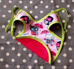 Pink Owl Bib on Etsy, $8.00