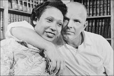 Mildred Jeter and her husband, Richard Loving.  They are the inspiration for LOVING DAY. The Jeter-Loving marriage was responsible for overturning state laws in the United States that prohibited interracial marriages