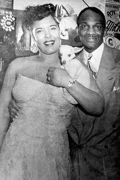 Renowned jazz vocalist Billie Holiday with Wesley Johnson Sr., at his Club Flamingo in the Billie Holiday, Wesley Johnson, Lady Sings The Blues, Classic Jazz, Live Jazz, Music Pics, Smooth Jazz, Jazz Musicians, Jazz Blues