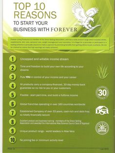 Forever Living Products  Recruiting Now. Go to http://www.soaringteam.com/member-services/infosite/mmxiv/index.php?Passcode=3344