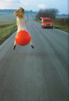 Crazy things that everyone should do it :) Ride a ball down the road. Guts.