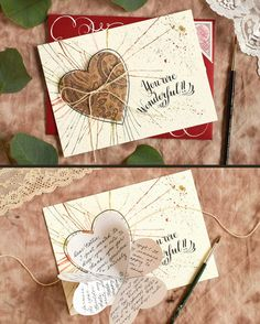 Folded Heart Handmade Card Tutorial – The Postman's Folded Heart Handmade Card Tutorial – The Postman's Knock The best kind of handmade card is one that surprises you! In today& tutorial, you& learn how to make a simple card with an interactive aspect. Handmade Birthday Cards, Greeting Cards Handmade, Diy Birthday, Card Birthday, Simple Birthday Cards, Birthday Sayings, Sister Birthday, Birthday Images, Tarjetas Diy