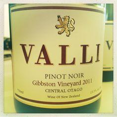 Valli Gibbston Vineyard Pinot Noir 2011 from Central Otago, NZ