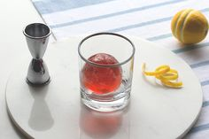 Negroni Cocktail Sphere // Become a household cocktail legend