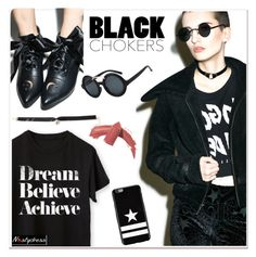 """""""Not-So-Basic: Black Chokers"""" by paculi ❤ liked on Polyvore featuring Kill Star, Givenchy, Elizabeth Arden, women's clothing, women, female, woman, misses, juniors and nastydress"""