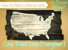 How to Paint a Stencil Without Bleeding. Great tip! Use mod podge to seal edges before you paint!
