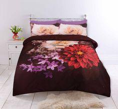 Zwart Dekbedovertrek Vibrant Flowers Romantisch dekbedovertrek met felgekleurde bloemen tegen een zwarte achtergrond voor een chique uitstraling. Comforters, Blanket, Shabby Chic, Creature Comforts, Quilts, Blankets, Cover, Bed Covers