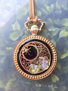 ハンドメイドマーケット minne(ミンネ)| 太陽と月鉱石(ブラック) Resin Jewelry, Jewelry Art, Fashion Jewelry, Jewellery, Plastic Resin, Uv Resin, Twinkle Star, Resin Charms, Kawaii