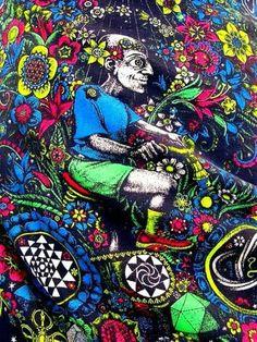 """Quadro ispirato dal primo viaggio """"lisergico"""" in bicicletta del Dr. Albert Hoffmann, scopritore dell'LSD"""