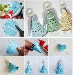Paper Doily Christmas Angels