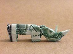 Baby Rhino Money Origami
