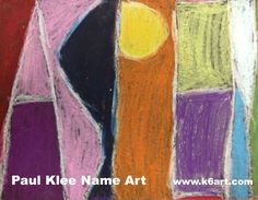 Paul Klee Name Art