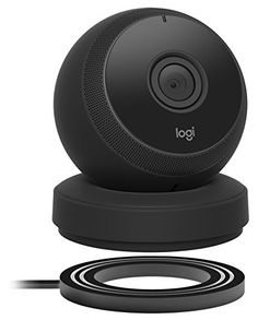 Logitech Circle Wireless 1080p Video Battery Powered Security Camera with Person Detection Motion Zones and Custom Alerts (Black)
