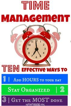effective time management tips