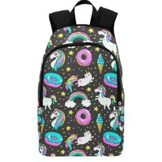 Star Colorful Color Pattern Many Unique Custom Outdoor Shoulders Bag Fabric Backpack Multipurpose Daypacks For Adult