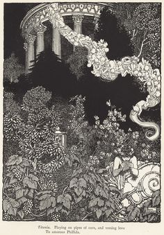 William Heath Robinson (1872-1944.) Titania, illustration to Shakespeare's Comedy of a Midsummer night's dream, London, 1914. Photolithograph. 21.40 x 15.20 cm.