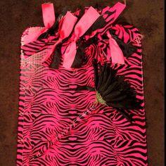 Pink zebra clipboard and matching pen!