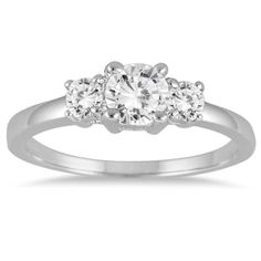 34 Carat TW Diamond Three Stone Engagement Ring in 14K White Gold ** Click image to review more details.(This is an Amazon affiliate link and I receive a commission for the sales)