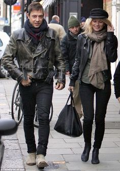 cc0165740ed5a Kate Moss (June 2012 - December - Page 64 - the Fashion Spot military hat +  leather jacket + top + scarf + jeans + boots (style)