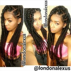 big part box braids - Google Search