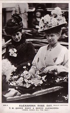 Queen Alexandra (mother to Victoria) and Queen Mary of Britain (mother to Edward VII).