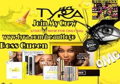 This opportunity is a Dream not only is Tyra an incredible role model of a boss woman and fierce to the extreme but this incredible cosmetic line is hardcore makeup on heroine Join My Crew be Your Own Boss working from home and never leave your kids again or family work from your phone or computer or while your shopping and get paid plus free website start today just $89 over $265 dollars worth of products join My Crew today  www.tyra.com/beauttogo #tyrabanks #joinmygroup #crew