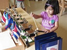 """Refinement of the senses with the beautiful Montessori bells: """"We try in the case of each sound to find its equal. This we call pairing. This is gradation of sound."""" - Dr. Montessori 🍎 #montessori Kindergarten Learning, Learning Centers, Fun Learning, What Is Montessori, Montessori Classroom, Preschool Painting, Reading Words, Teaching Style"""