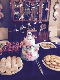 Harry Potter Baby Shower - Diaper Cake