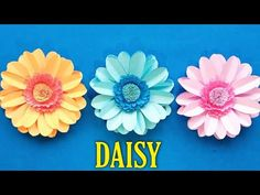 How To Make Daisy Flower With Paper/Paper Flower Making/Paper craft art/Flower With Paper Tutorial - YouTube Vj Art, How To Make Paper Flowers, Craft Art, Paper Paper, Flower Making, Daisy, The Creator, Arts And Crafts, Youtube