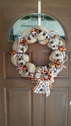 A personal favorite from my Etsy shop https://www.etsy.com/listing/470836383/halloween-wreath-witch-wreath-trick-or