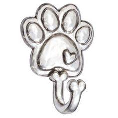 Rockin' Doggie Pewter Dog Leash Hook - Paw - PupLife Designer Dog Supplies
