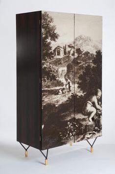 Italian Wardrobe with Two Doors, 1950s