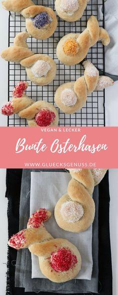 {Rezept} Süße Osterhasen aus leckerem Kokos-Hefeteig - Glücksgenuss