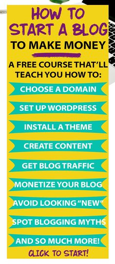 confused about How to Start a Blog and MAKE MONEY with it? - this is the info you've been looking for! A FREE tutorial for beginners! (I followed these steps and now I make over 10,000/month from blogging, just a year and a half later!)