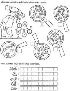 Conteo de insectos Math For Kids, Fun Math, Maths, Educational Activities, Classroom Activities, Lego Math, Math Sheets, Kids Math Worksheets, Math Humor