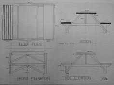 Furniture Drawings : Table