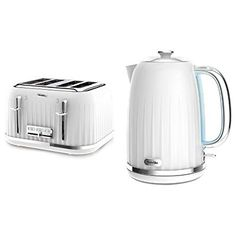 Breville Impressions 4 Slice Toaster and Kettle Bundle - White #WhiteHomeAppliances