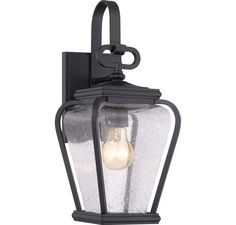 "Quoizel PRV8406KFL Province CFL 15.5"" Outdoor Lantern in Mystic Black in Outdoor Lights, Outdoor Wall Lights: ProgressiveLighting.com"