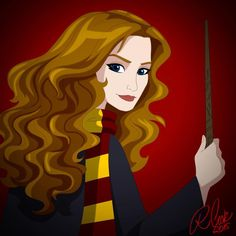 by cartooncookie I think this is supposed to be Hermione, but it could be Lily or Ginny too. Harry Potter Artwork, Harry Potter Drawings, Harry Potter World, Cartoon Cookie, Severus Rogue, Modern Magic, Albus Dumbledore, James Potter, The Little Prince