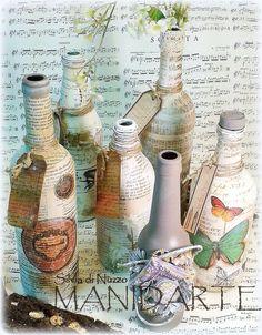 """Bottle... """" contaminazioni"""" per informazioni silvia@dinuzzo.it visita  www.manidarte.net"""