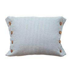 Button Stripe Blue Cushion by MM Linen is available with Afterpay and eligible for Free Shipping for purchases over $100. Take comfortable living to the next level when you shop with queenb. Browse today!