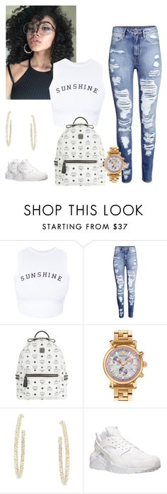 """Untitled #332"" by qveenchynamonae ❤ liked on Polyvore featuring Wildfox, H&M, MCM, Versace, BCBGMAXAZRIA and NIKE"