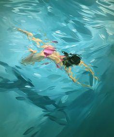 Anime Comics, Underwater Painting, Rio, Landscape Artwork, Water Art, Human Art, Detail Art, Seascape Paintings, Summer Art